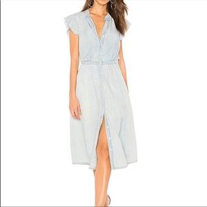 1557797c07 Joie Dresses - NWT Joie Awel Chambray Button Front Midi Dress